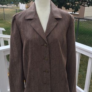 Alfred Dunner Faux Snakeskin Jacket NWT
